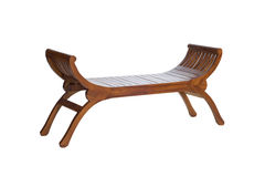 Long wooden chair Royalty Free Stock Photos