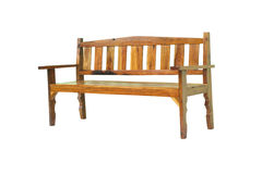 Long wooden chair Stock Image