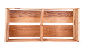 A long wooden crate isolated Stock Photography