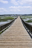 Long wooden dock Royalty Free Stock Image