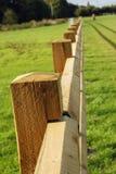 Long wooden fence. Stock Photos