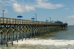A long wooden jetty at murrell`s inlet Royalty Free Stock Photography