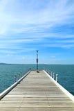 Long wooden pier in Australia Royalty Free Stock Photo