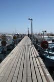 Long wooden pier Stock Photos
