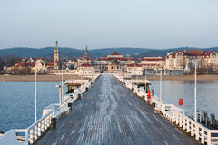 Long wooden pier in Sopot Stock Photos