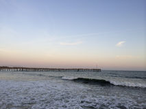Long Wooden Pier, Ventura, CA Stock Photo