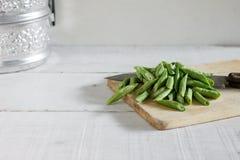 Long yard bean. Royalty Free Stock Photography