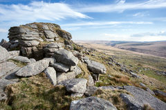 Longaford Tor. Dartmoor National Park Devon UK Royalty Free Stock Photography