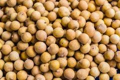 Longan ή ακατέργαστα longan φρούτα εμπορεύεται Στοκ Φωτογραφία