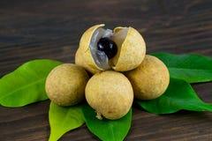 Longan Φρέσκα longan φρούτα Στοκ εικόνα με δικαίωμα ελεύθερης χρήσης