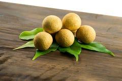 Longan Φρέσκα longan φρούτα Στοκ Φωτογραφία