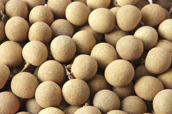 Longan. The dried longan, contains the Vitamin fruit richly Royalty Free Stock Photography