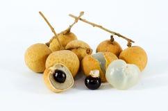 Longan. A tropical fruit called longan or dragon eye fruit Royalty Free Stock Photo