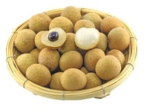 Longan in the basket Stock Photo