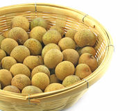 Longan in the basket Stock Photography