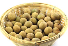 Longan in the basket Stock Images