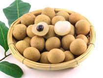 Longan in the basket Royalty Free Stock Images