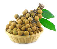 Longan in the basket Stock Photos
