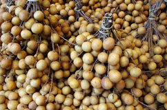 Longan berries bunches background Royalty Free Stock Photos