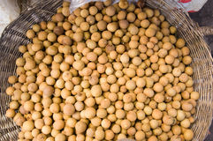 Longan Berries in a Cambodian Market Stock Images