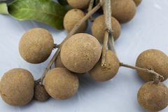 Longan Close-up Isolated. In white background Royalty Free Stock Photos