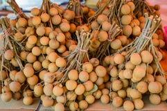Longan, Dimocarpus Longan, Frucht von Asien, die gleiche Familie der Litschi Lizenzfreie Stockbilder