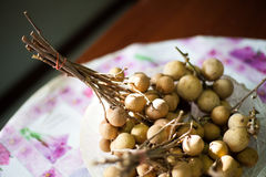 Longan in the dish Royalty Free Stock Image