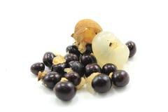 Longan - exotisch fruit Stock Foto's