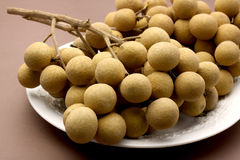 Longan fresh Asia sweet fruit, Thailand. Stock Photography