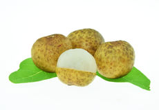 Longan. fresh longan on the white background. Royalty Free Stock Photos