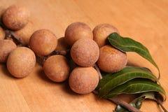 Longan Fruit. Longan, native to southern China, taste similar to lychee Stock Image