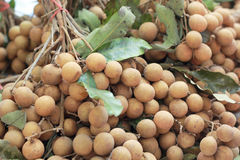 The longan fruit in the market Stock Photos