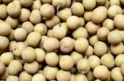 Longan in fruit market Royalty Free Stock Photos