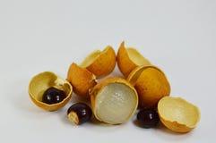 Longan fruit Thai fruit peel out Stock Photo