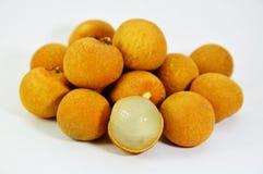 Longan fruit Thai fruit peel out Stock Image