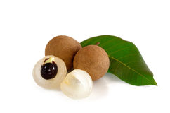 Longan fruit in Thailand isolate on white background. Beautiful Longan fruit in Thailand Royalty Free Stock Photography