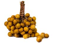 Longan fruit, Thailand plant to the South East. Fruit thailand on background whit Royalty Free Stock Photo