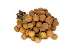 Longan Fruit On White Background royalty free stock image