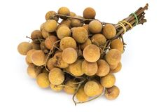 Longan Fruit On White Stock Photos