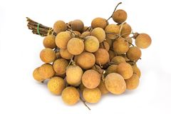 Longan Fruit On White Stock Image