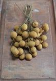 Longan fruit on the wood Royalty Free Stock Image