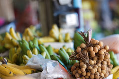 Longan fruits in market Royalty Free Stock Images
