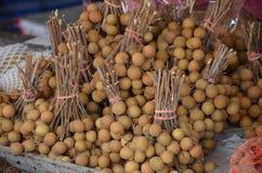 Longan. Fruits at the thai market Royalty Free Stock Images