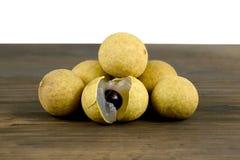 Longan Frutti freschi del longan Fotografie Stock