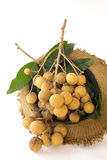 Longan isolate. Longan fruits in Thailand, Longan isolate   Northeast of Thailand Royalty Free Stock Photos