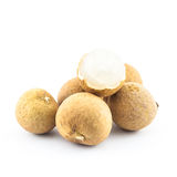 Longan isolated - exotic fruit Stock Photo