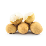 Longan isolated - exotic fruit Royalty Free Stock Image