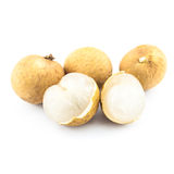 Longan isolated - exotic fruit Royalty Free Stock Photography