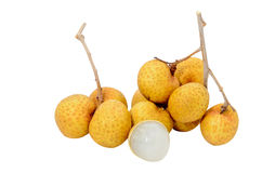 Longan isolated on a white Stock Photography