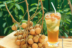 Longan juice cold water royalty free stock images